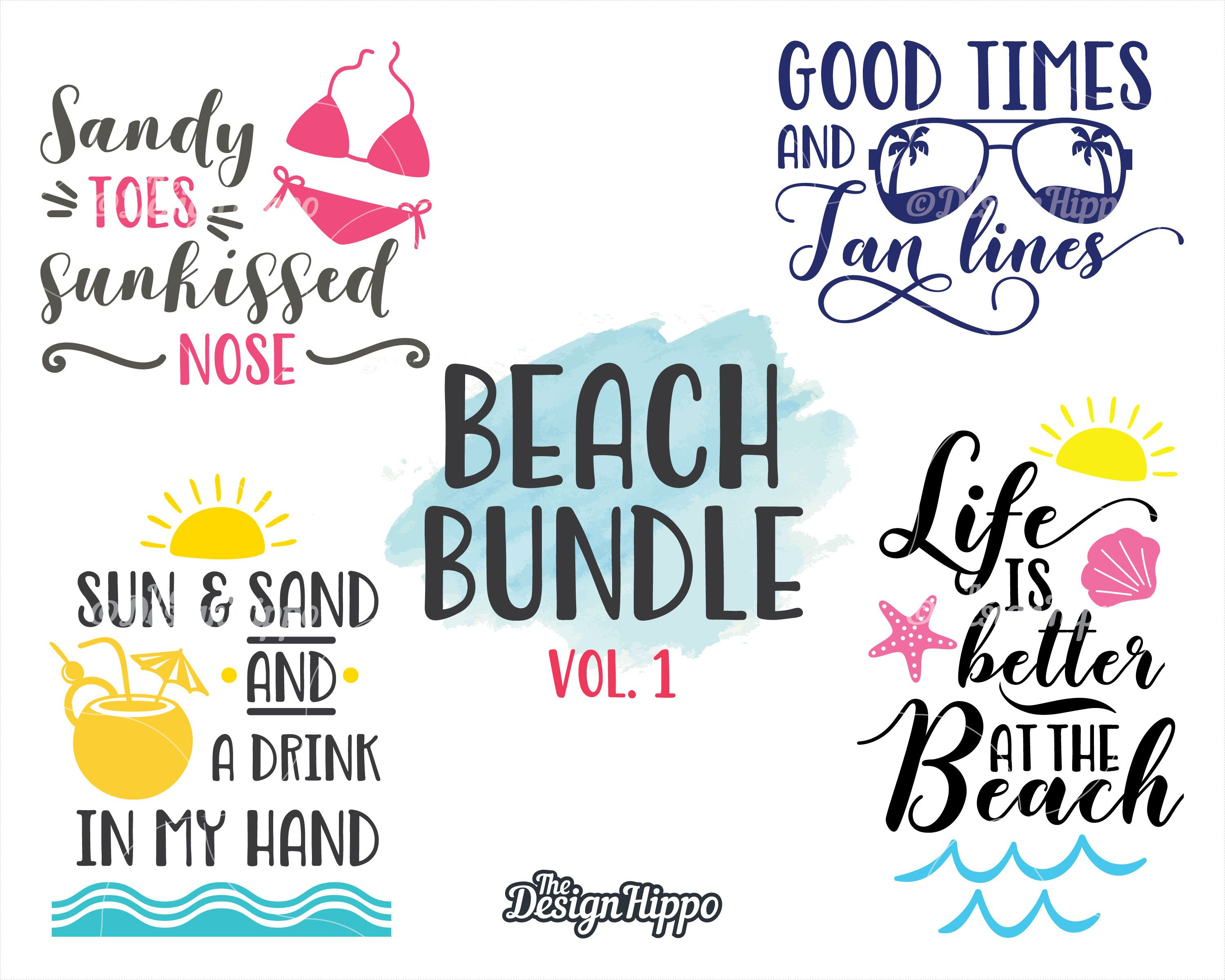 View The Sun The Sand A Drink In My Hand – Cutting File PNG