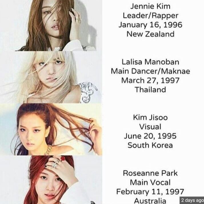 Blackpink Members Profile Yg Ygngg With Images Blackpink