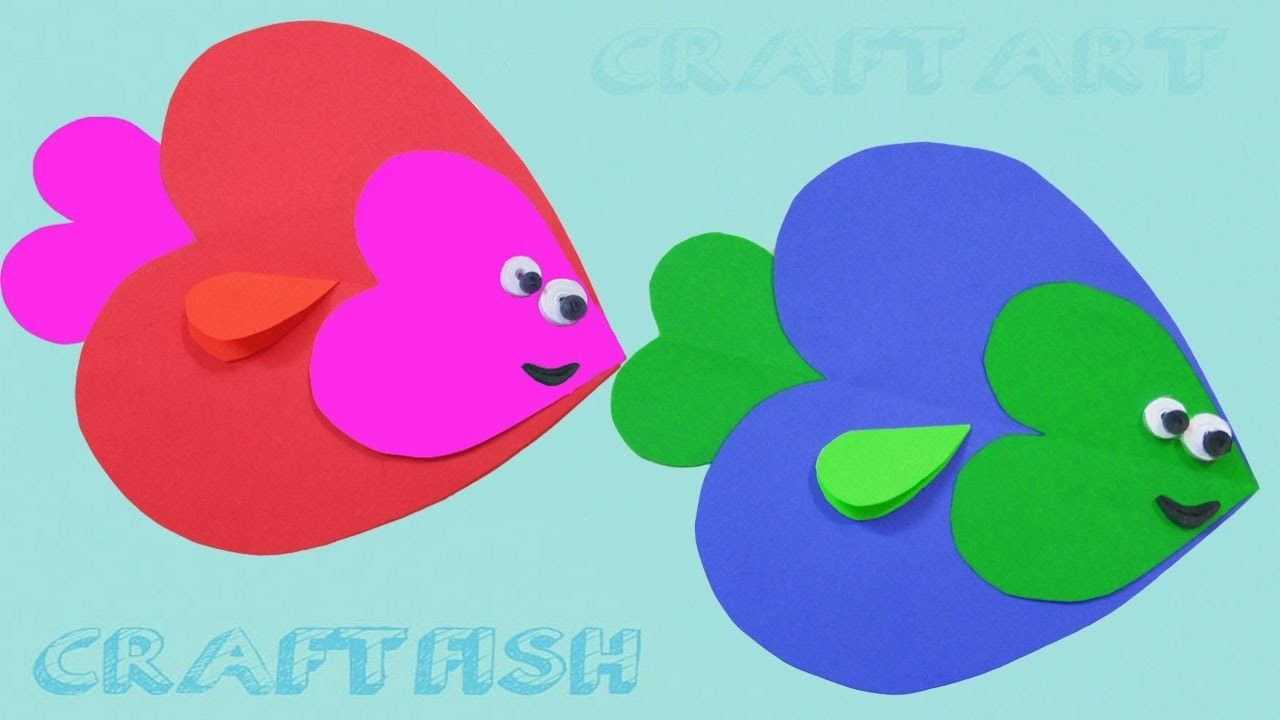 Paper Crafts For Kids How To Make Heart Shaped Fish Keep Kids