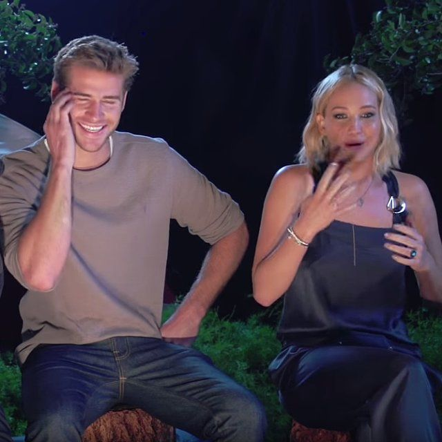 Jennifer Josh And Liam Bring The Lols In This Truly Hysterical Interview Celebrities Funny Jennifer Lawrence Josh And Jennifer