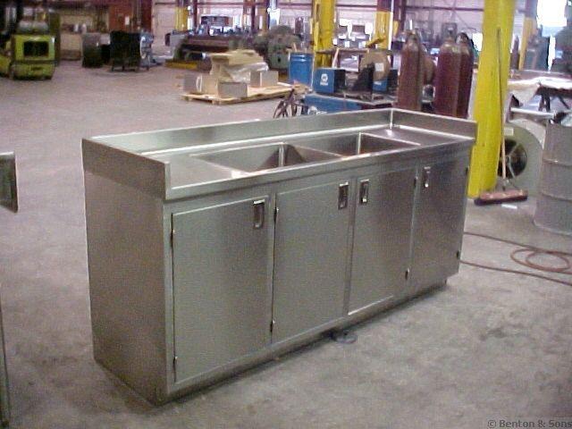 Custom Commercial Kitchen Equipment Stainless Steel Sink