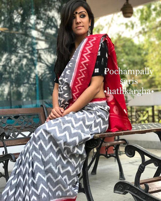 Designer Saree New Arrival soft Cotton Saree Hand Block Saree Partywear Saree,ikkat printed Saree