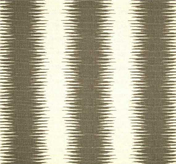 Modern Tribal Stripe Dark Grey & White, Fabric by the Yard, Premium Wide Cotton Duck, Drapery Fabric, Home Decor Fabric, Pillows, Crafts