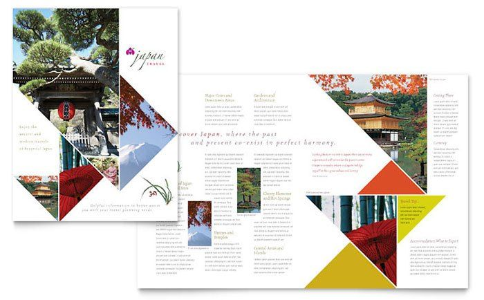 Brochure Example Japan Travel Book Pinterest Brochure