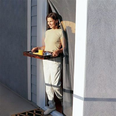 Bug Off Instant Screen Door: In-Sects Free    Published in Gardens & Outdoor Design | On November 23rd, 2011