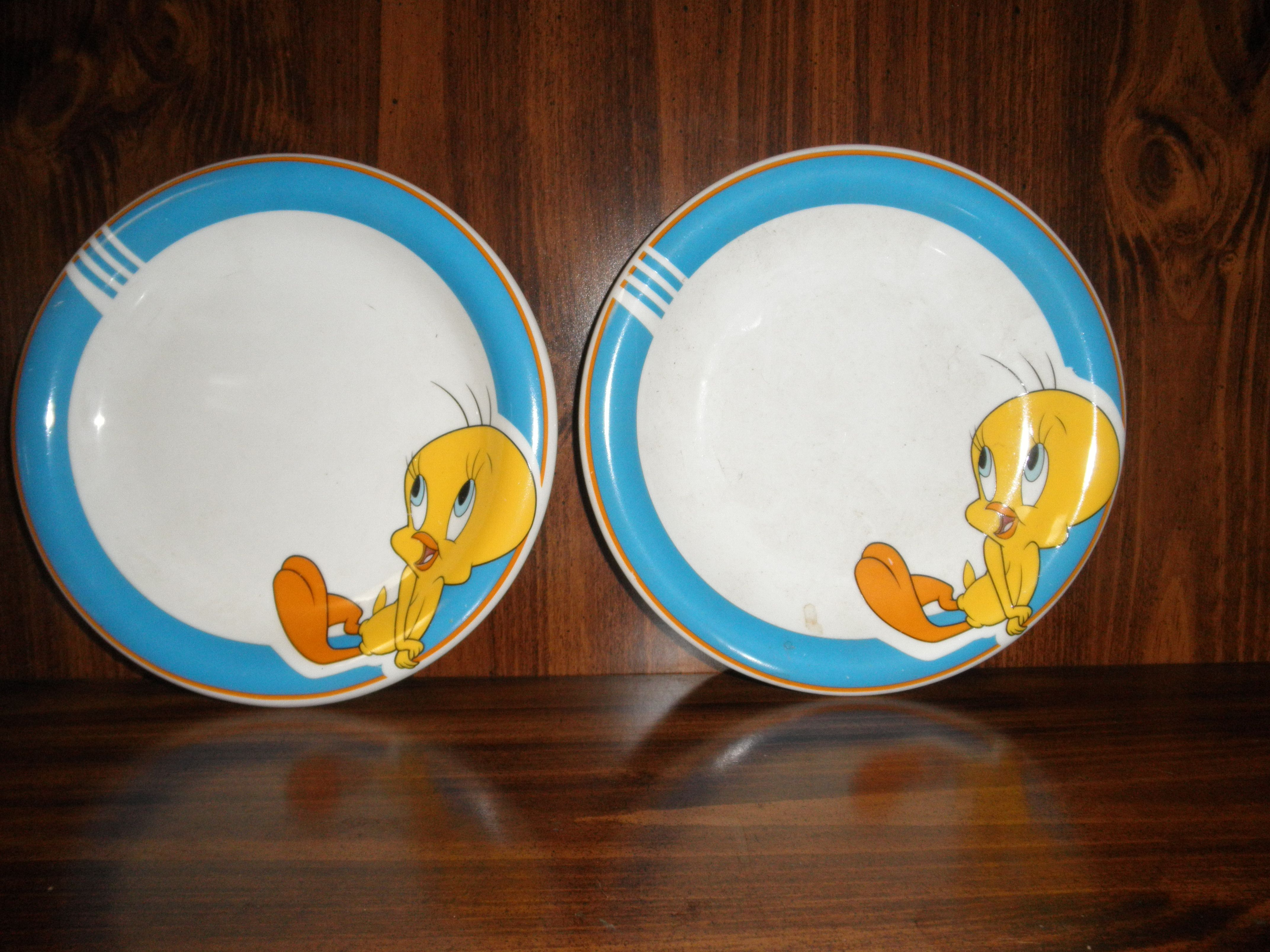 Two antique plates from my niece, Deenise Brownfield in 1980