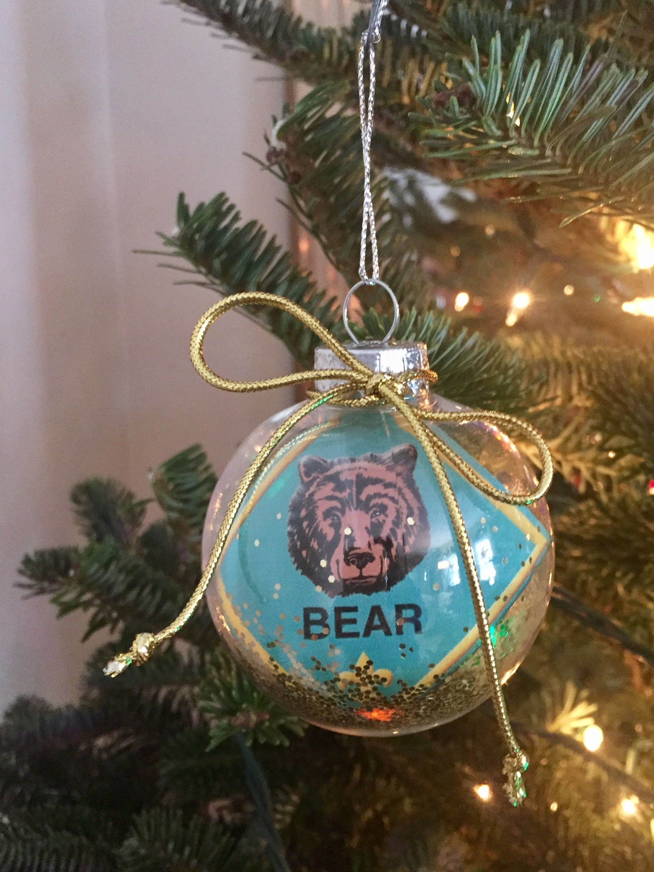 Easy diy Cub Scout ornament. The dollar store sells ...