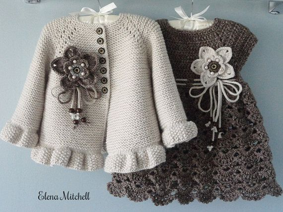 Photo of Crochet Baby Dress Crochet Baby Cardigan Knitted Baby Girl Jacket Baby Girl Outf… Check mor…