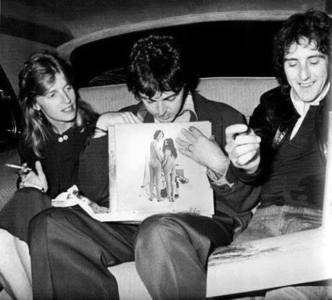Linda and Paul McCartney, Denny Laine (fake)