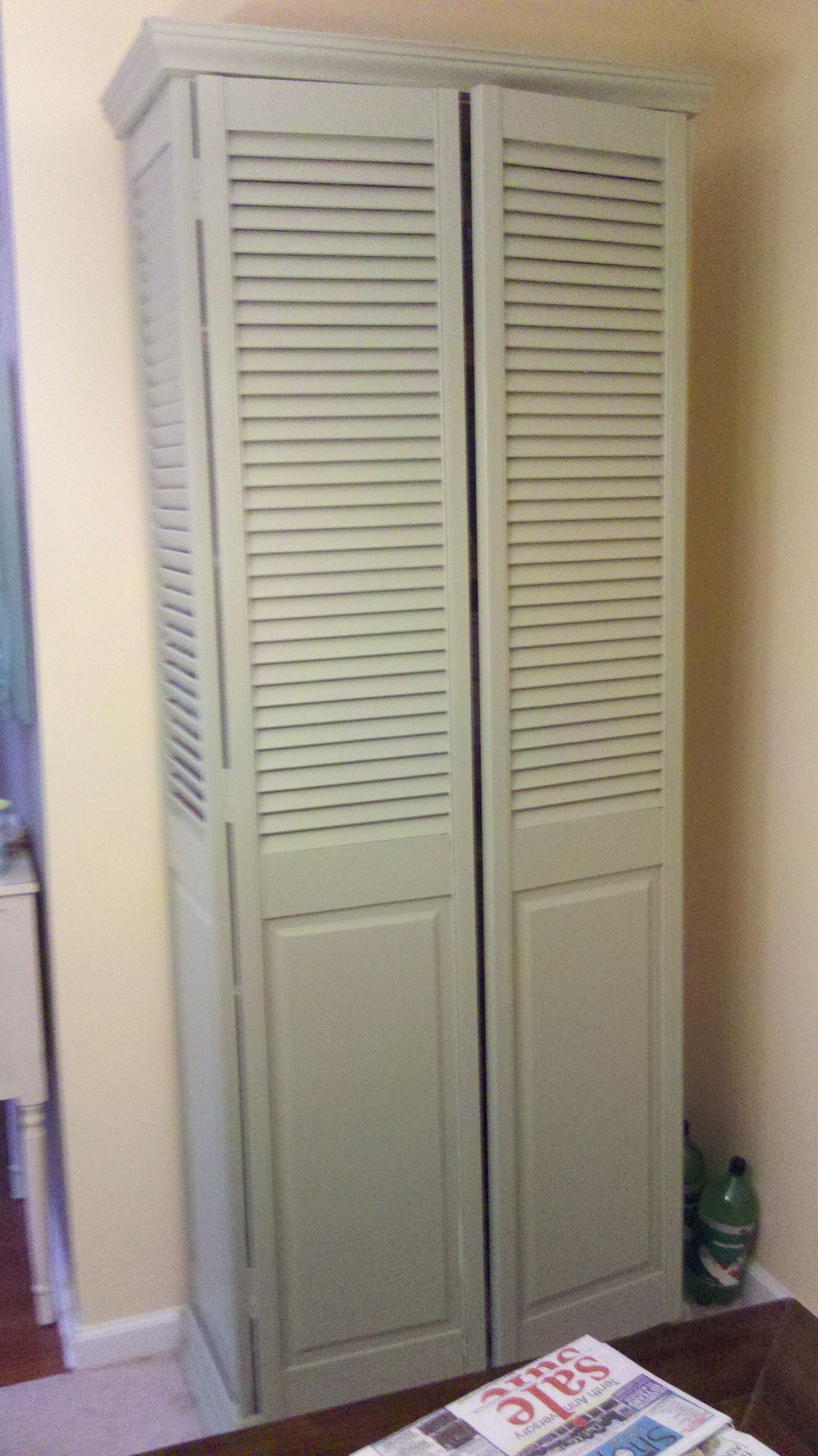 Pantry Created With Bi Fold Doors There Is Never A Shortage Of Bi Folds Here Old Closet Doors Bifold Closet Doors Bifold Doors