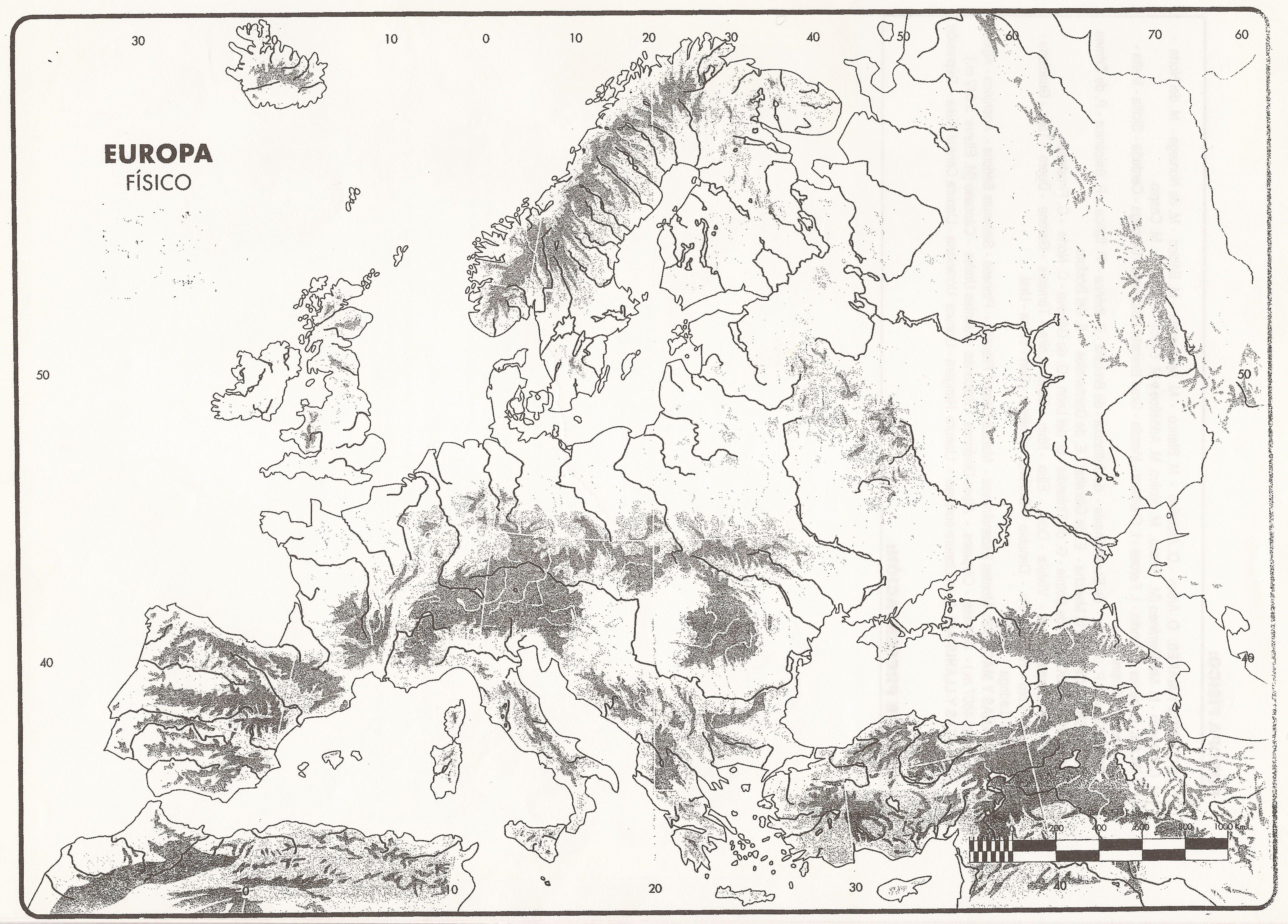 mapa FISICO EUROPA  Busca de Google  Europa  Pinterest  Mudas