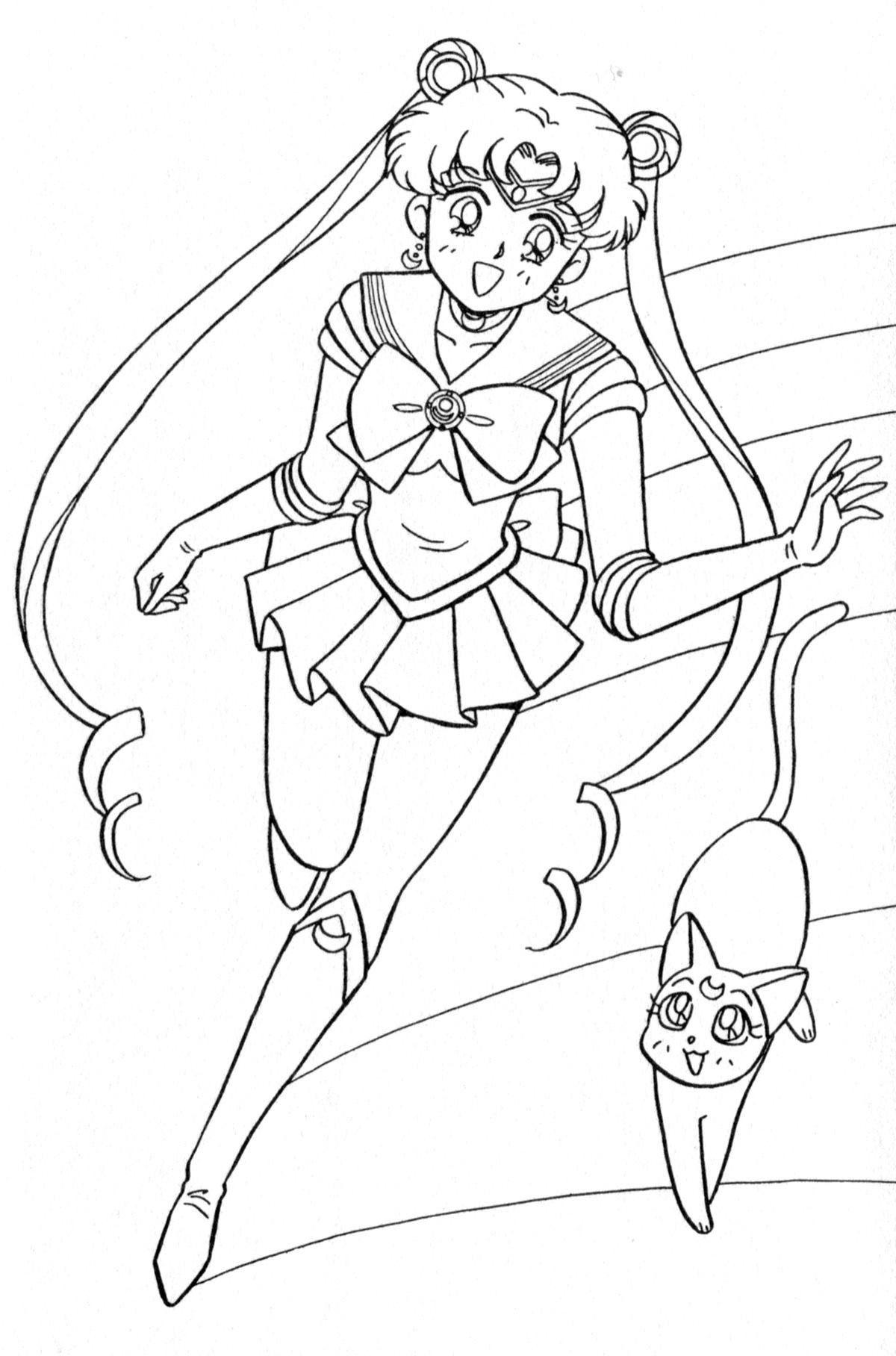 Sailor Moon Coloring Book Xeelha En 2020 Libro De Colores Sailor Moon Nerd