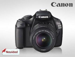 Cámara reflex Canon + objetivo