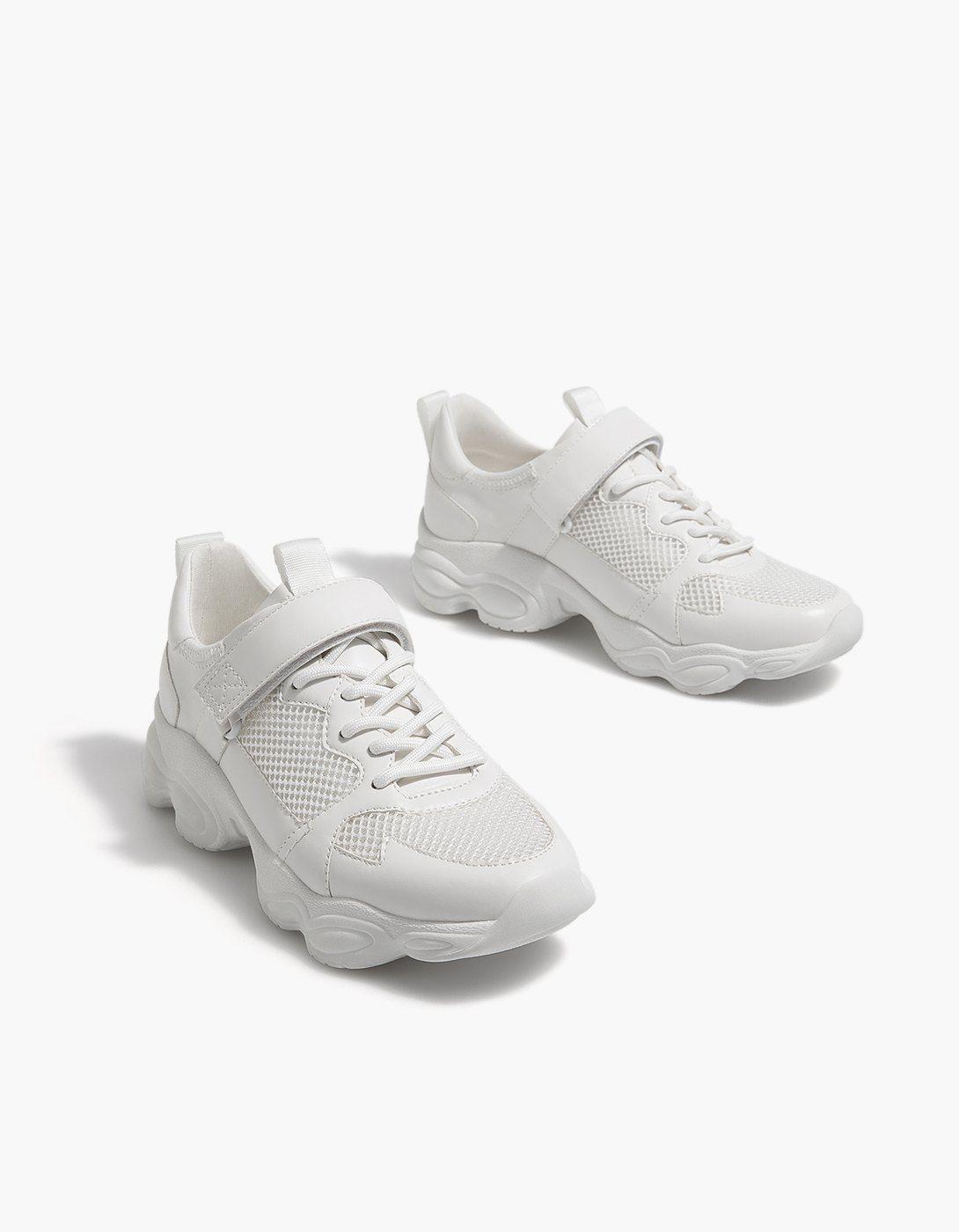the latest 24b8c ff5c2 White contrasting sneakers - All   Stradivarius United Kingdom Huaraches,  Nike Huarache, Summer Sale