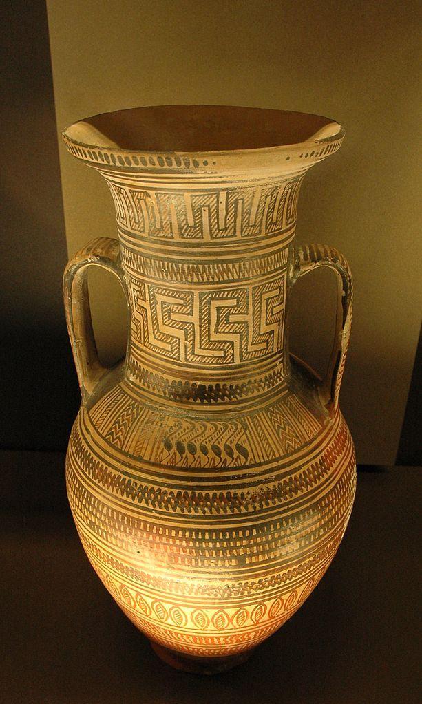 Workshop Of Athens 897 Late Geometric Attic Amphora Ca