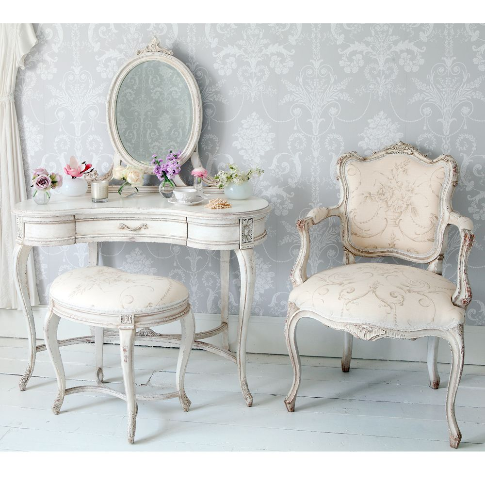 Tables For Bedrooms Delphine Distressed Shabby Chic Dressing Table Shabby Chic