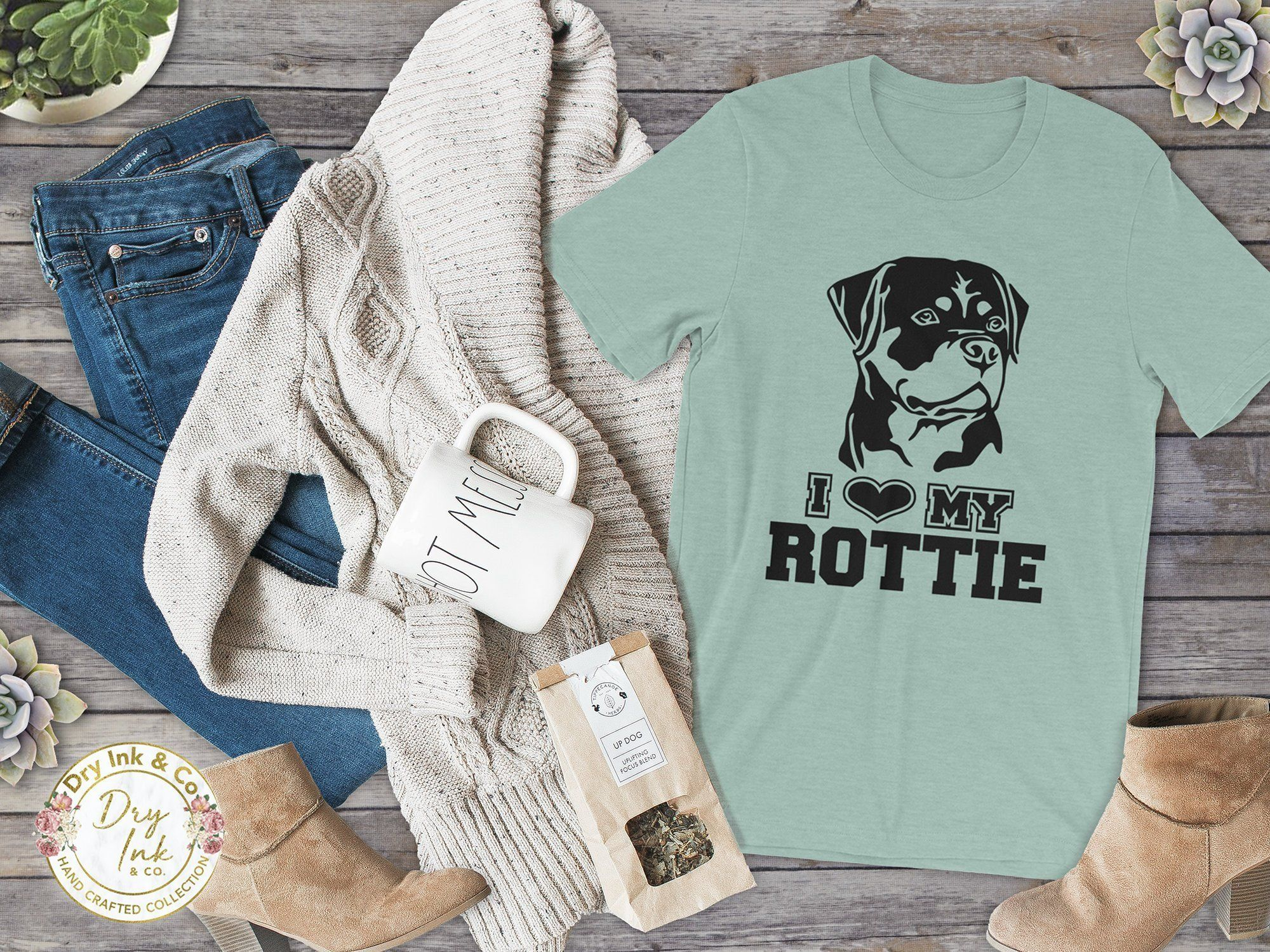 I Love My Rottie T Shirt Rottweiler Mom Rottweiler Dog Mom Rott