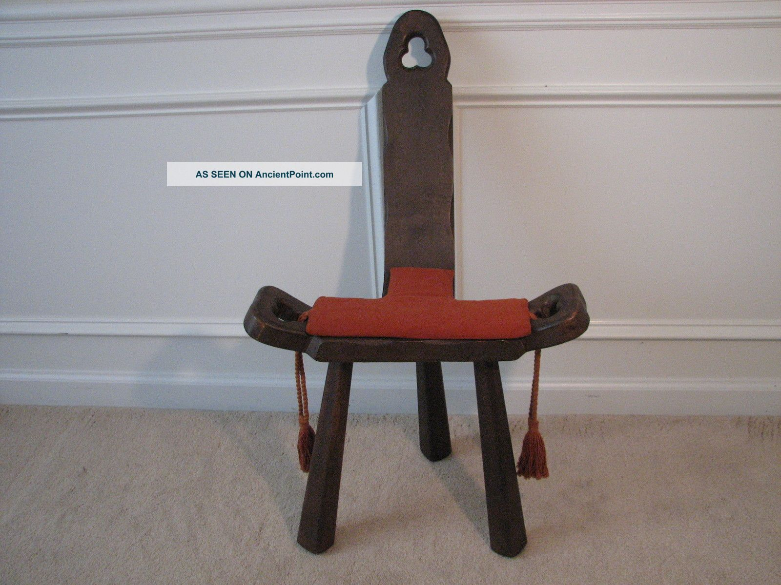 Antique birthing chair - Antique Vintage Geman Hand Carved Wooden Labor Birthing Chair 1900 1950 Photo