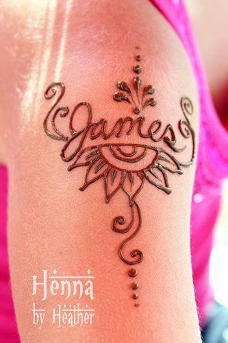 Henna Shoulder James Name Tattoo Bedford Tattoo Henna Name