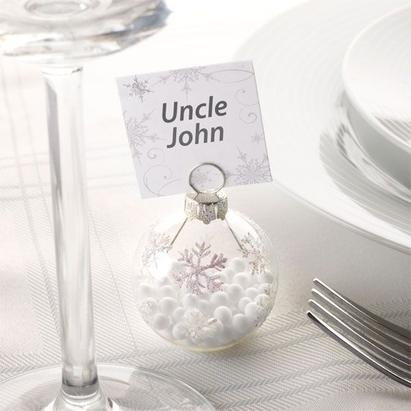 place card holderssnowflake bauble placecard holder£7.996pk