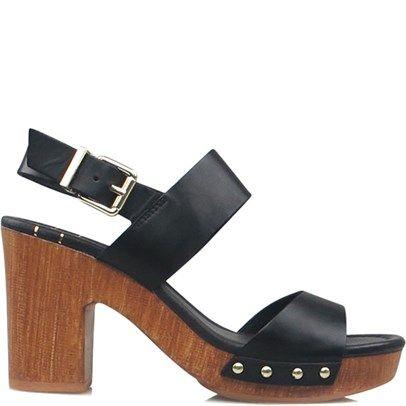 Ozsale - Black Leather Zazzy Heels - Ozsale.com.au