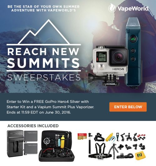 Win a GoPro hero4 silver Vapium summit vaporizer and many... IFTTT reddit giveaways freebies contests