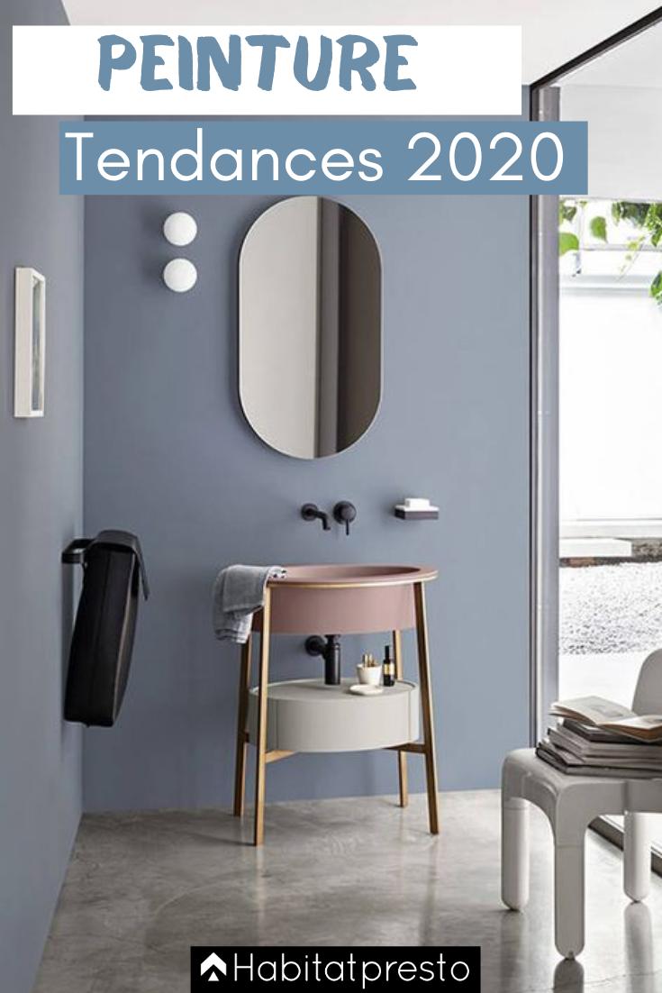 Peinture Interieure Voici Les 5 Couleurs Tendances En 2020 En 2020 Couleur Salle De Bain Salle De Bains Moderne Salle De Bain Grise
