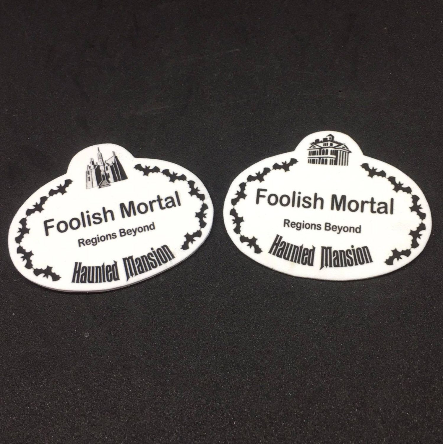 Haunted Mansion Themed Name Badge by NaysCreeptorium on Etsy https ...