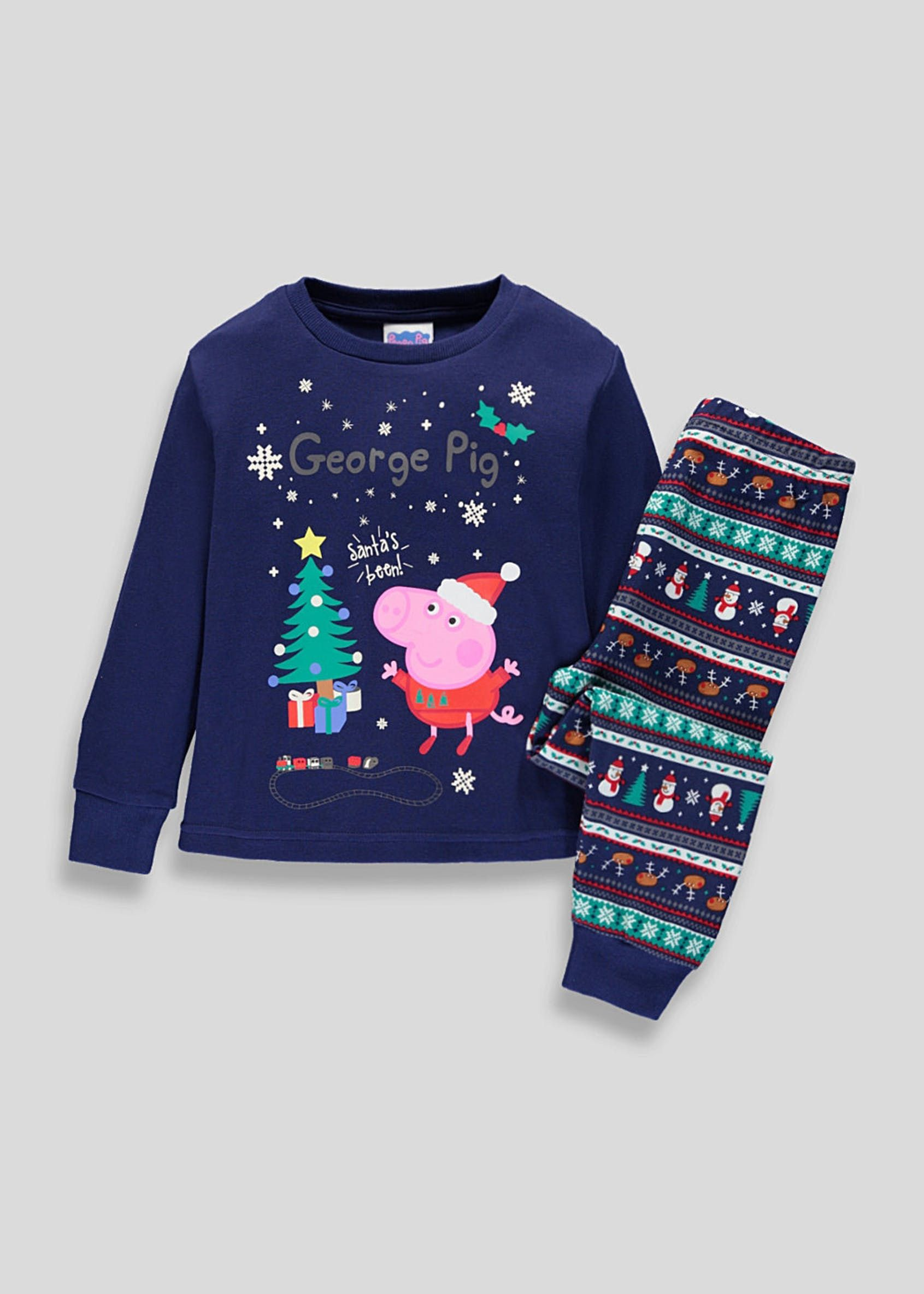 Kids Family Peppa Pig Christmas Pyjama Set (9mths