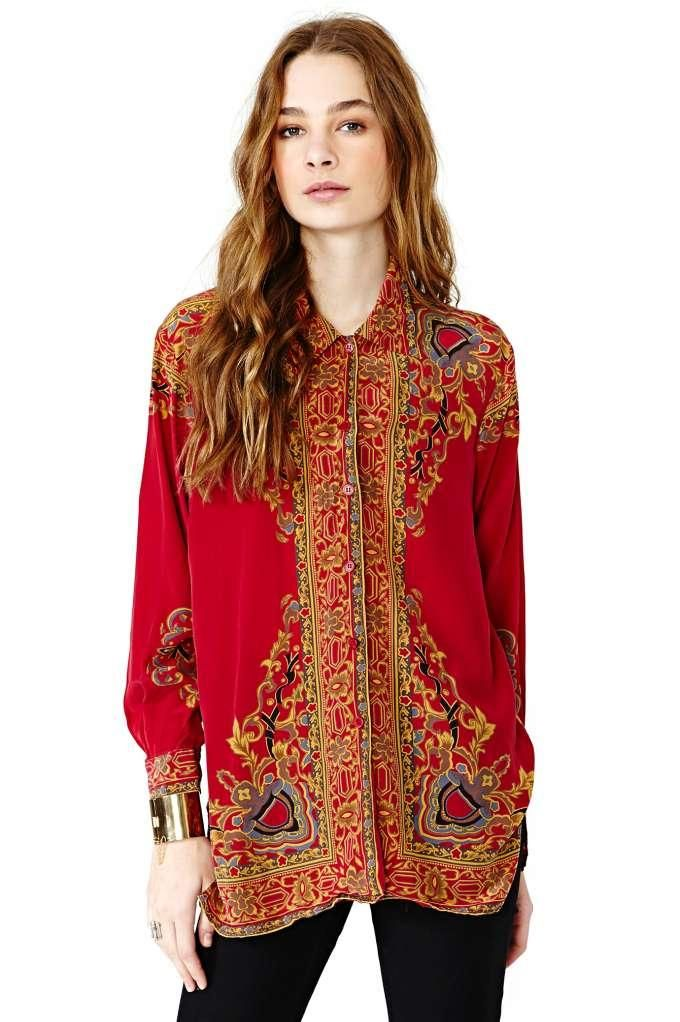 Rewind It Back Silk Blouse