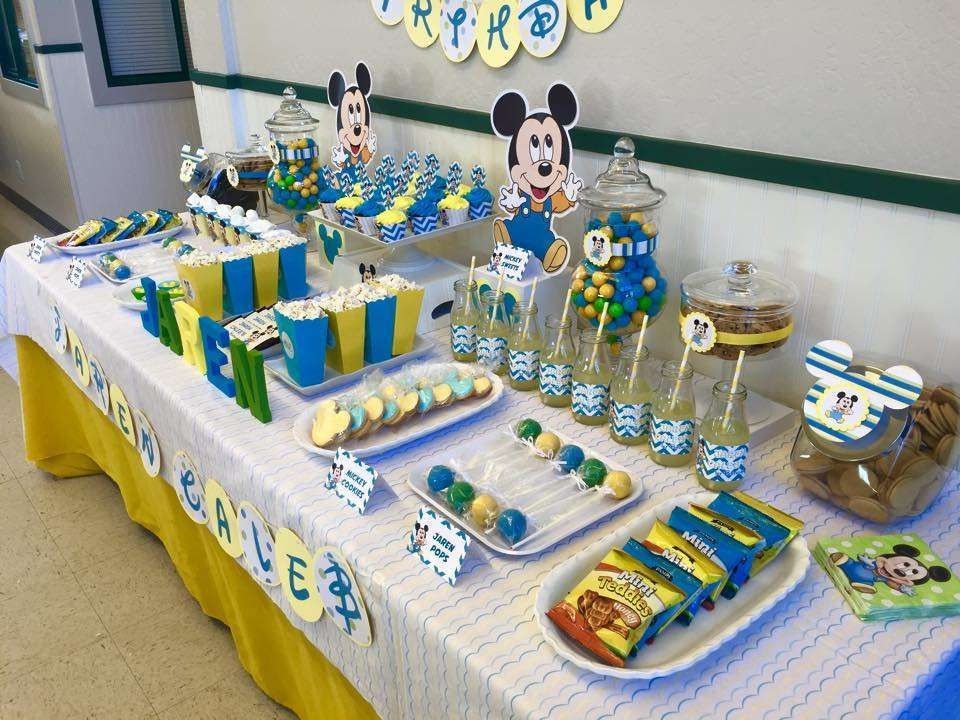 baby mickey mouse birthday party ideas | baby mickey, baby mickey