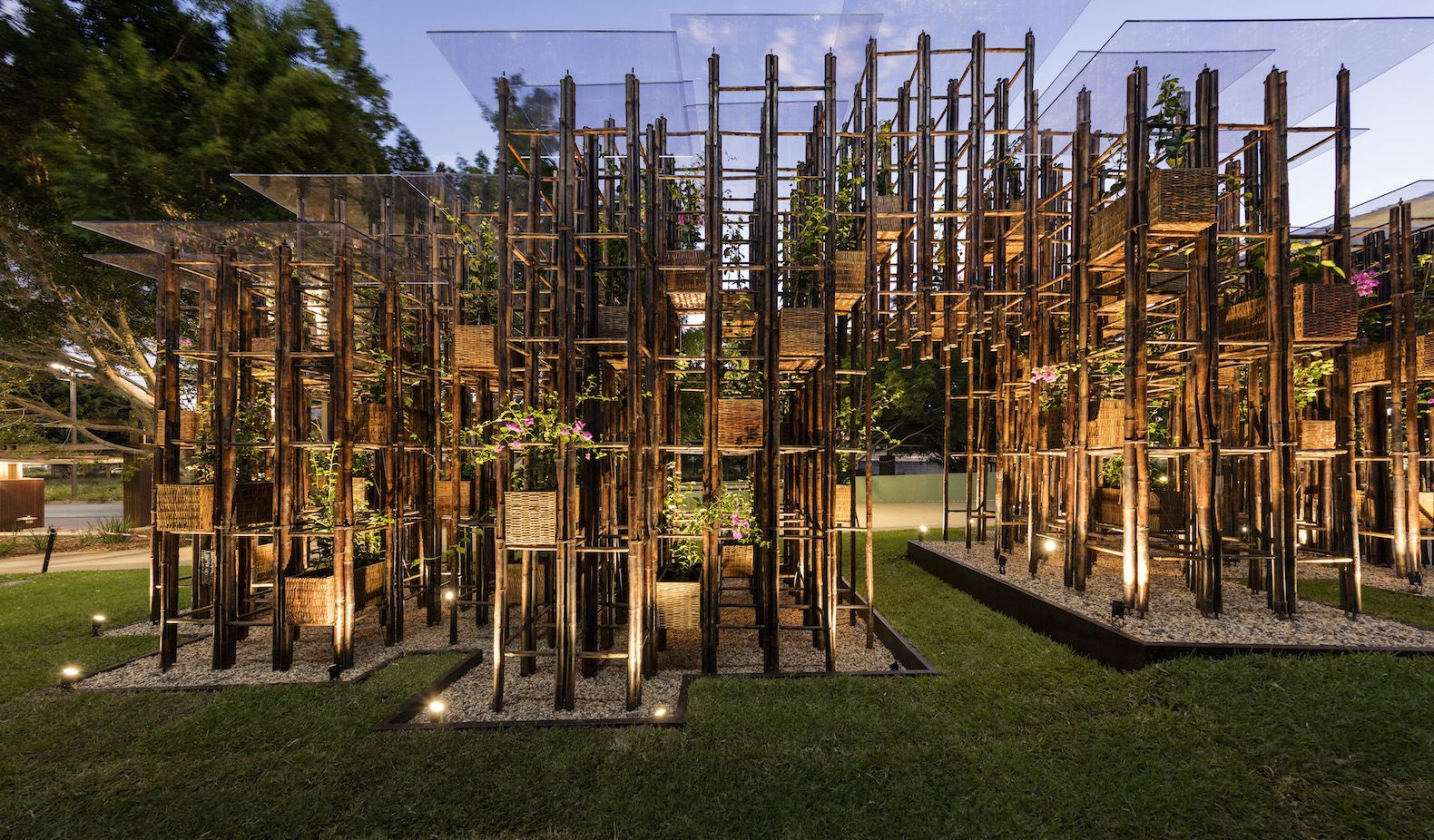 Green Ladder Bamboo Pavilion by Vo Trong Nghia