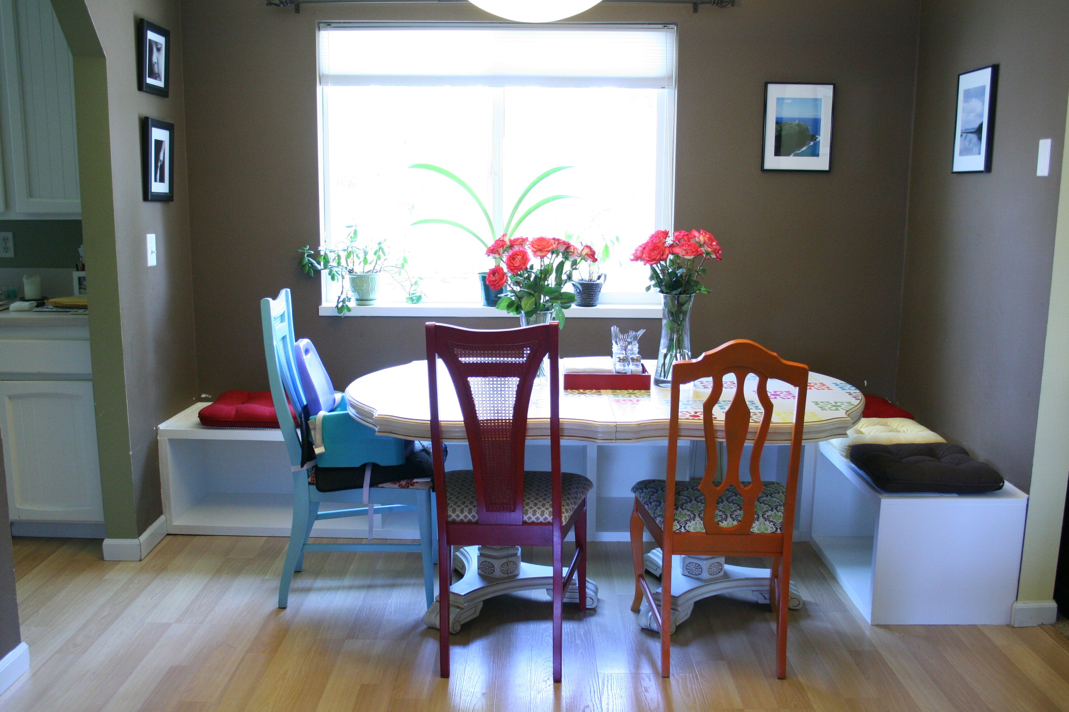 Instead Of A Permanent Fixture DIY Dining Table Booth Seating