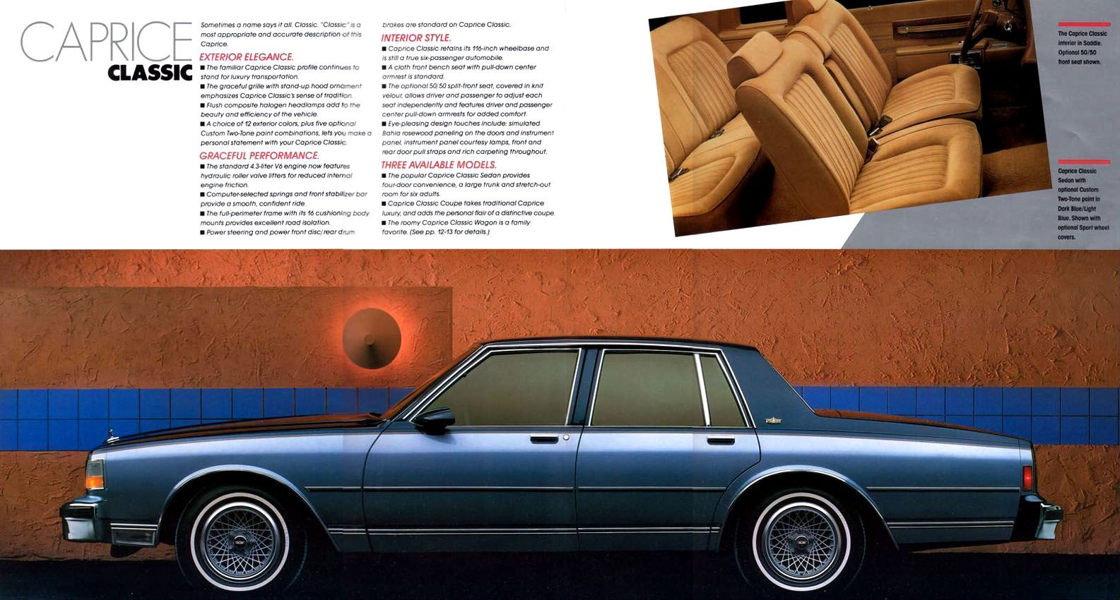 1987 chevrolet caprice classic four door sedan