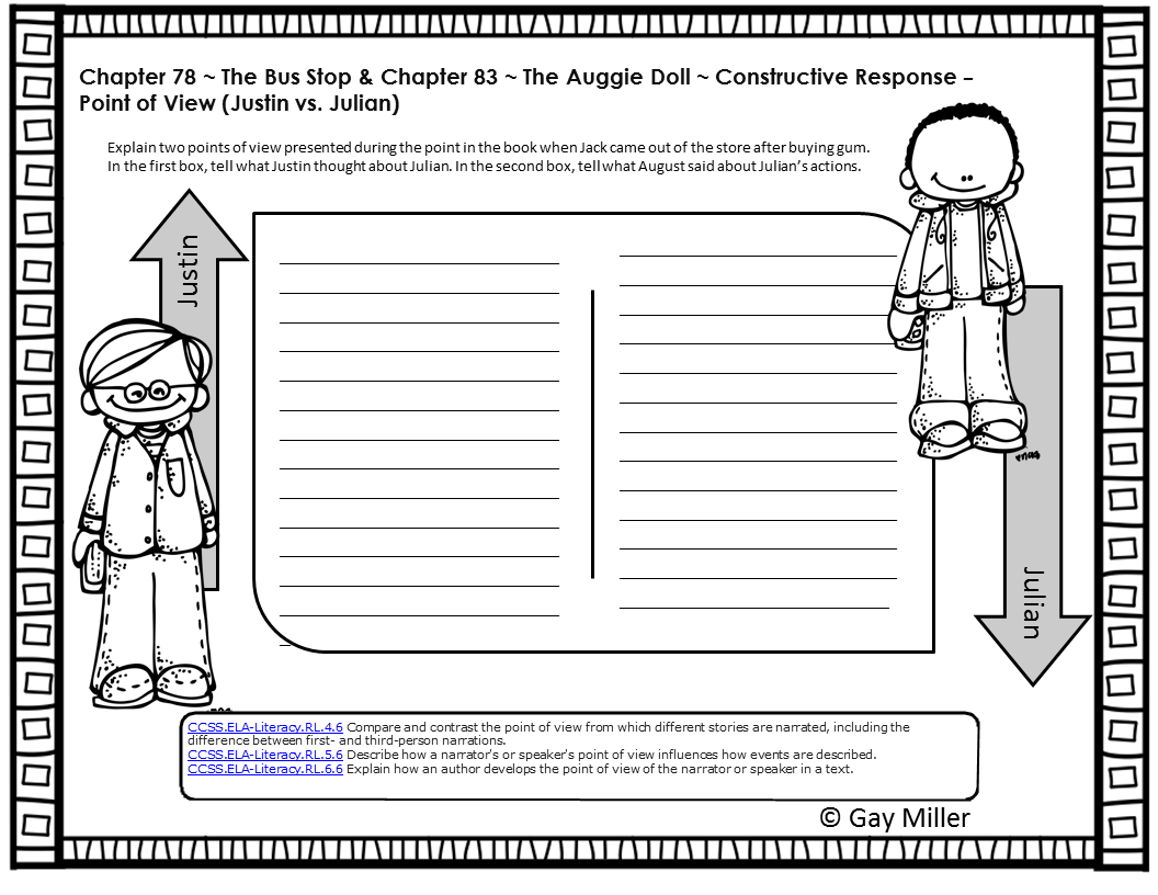 Worksheets Constructed Response Worksheets wonder by r j palacio free printable books and teacher sample question from book unit