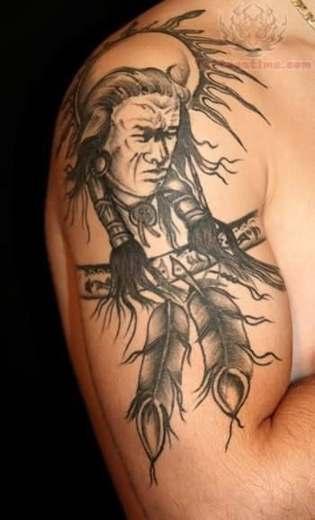 Native American Warrior Tattoo Native American Tattoos Indian Tattoo Design American Indian Tattoos