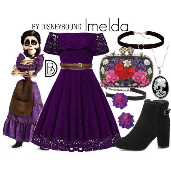 59eba6f5b1eb1 DisneyBound - Imelda Coco Costume, Inspirado En Disney, Family Halloween  Costumes, Mickey Halloween