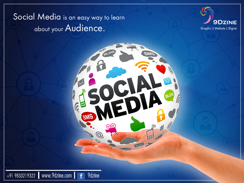 Social Media is an easy way to learn about your Audience.  To get your social media marketing done call: +91 9833219322 or visit: www.9dzine.com  ‪#‎9dzine‬ ‪#‎socialmediamarketing‬ ‪#‎facebook‬‬ ‪#‎linkedin‬ ‪#‎twitter‬ ‪#‎pinterest‬ ‪#‎instagram‬ ‪#‎google‬+