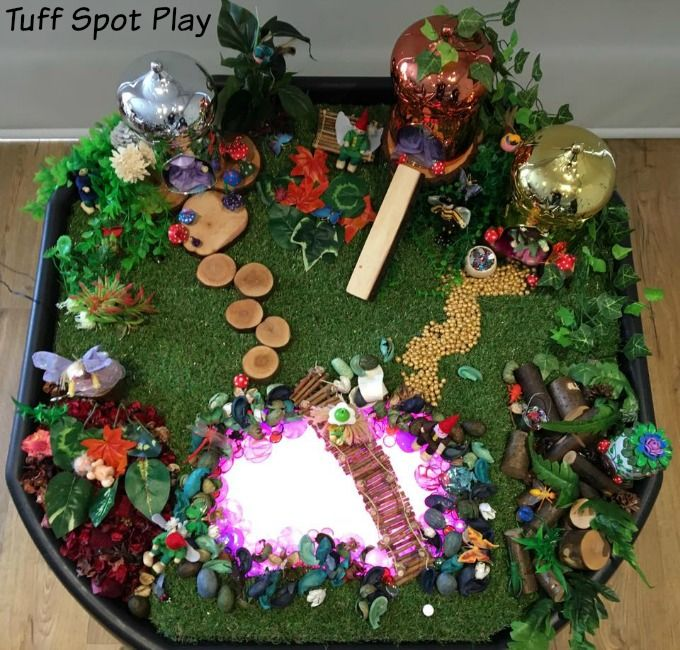 Fairy Village Tuff Spot Small World Play Pinterest Tuff