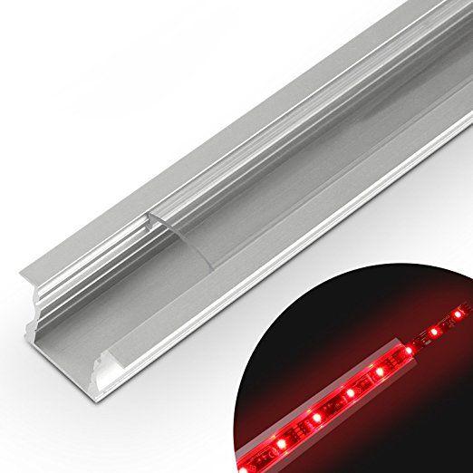 Jago Aluminiumprofil Schiene Lichtleiste Profilschiene für LED - led lichtleiste küche