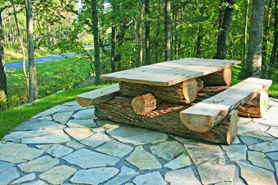 Rustic Locust Picnic Table Custom Made To Your Specifications This - Pentagon picnic table