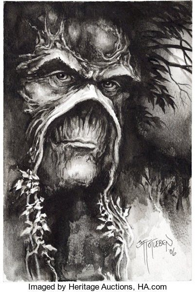 John Totleben Swamp Thing Commissioned Illustration Original Art (2006).... #swampthing