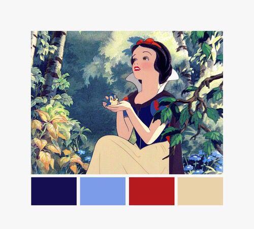 Snow White Color Palette Colour Pallette Schemes Combinations Disney