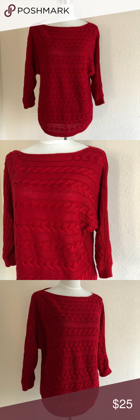 7a03cff0fd75 Ralph Lauren Cable knit Boatneck Sweater in 2018