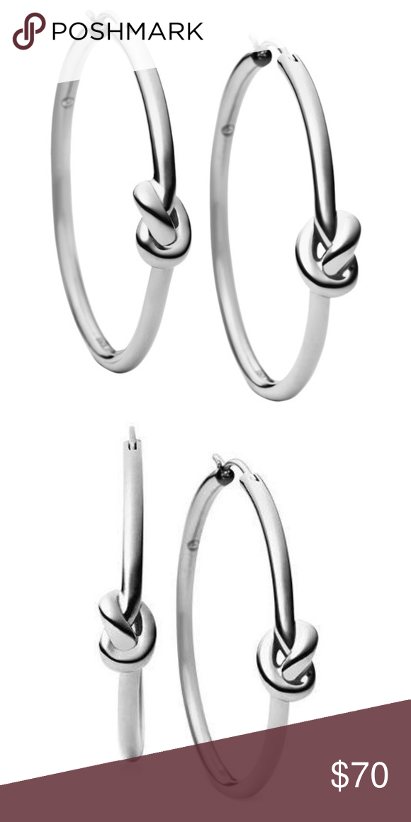 78bbe0f35e270 NWT Michael Kors Stainless Steel knot hoop earring NWT - Never worn ...