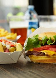 Shake Shack- Burgers, fries, frozen custard, beer. What more could you ask for?