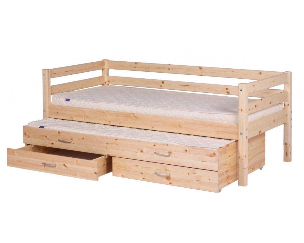 Cama flexa con barandilla cama nido y cajones flexa - Cama nido con cajones ...