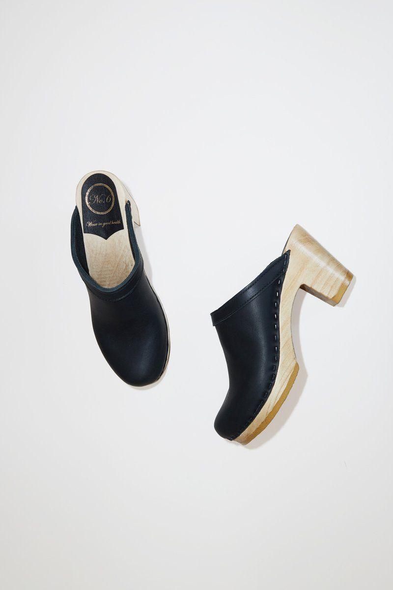 ce3f9262f069 No.6 Old School Clog on High Heel in Black