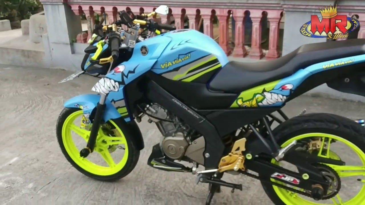 Stiker Motor Vixion Advance Ajib Full Doff Shark Theme Cool