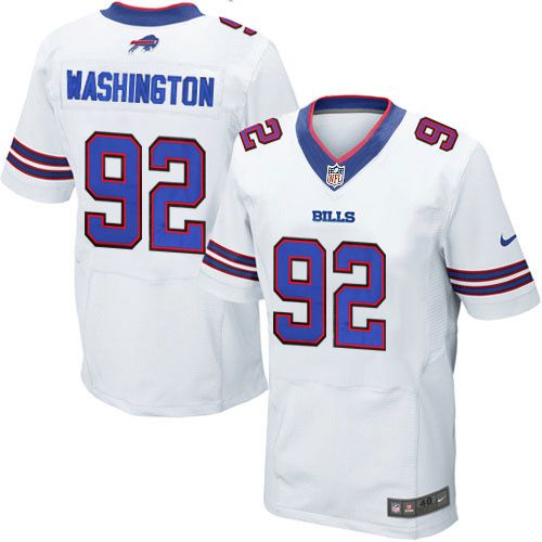 Nike Adolphus Washington White Elite 92 NFL Road Buffalo Bills ...